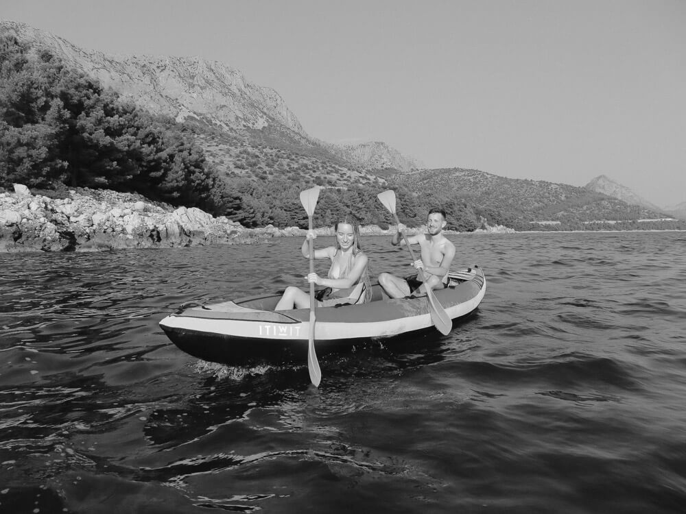 Kayaking adventure photosession croatia love and ventures photography 02 | Croatia Elopement Photographer and Videographer