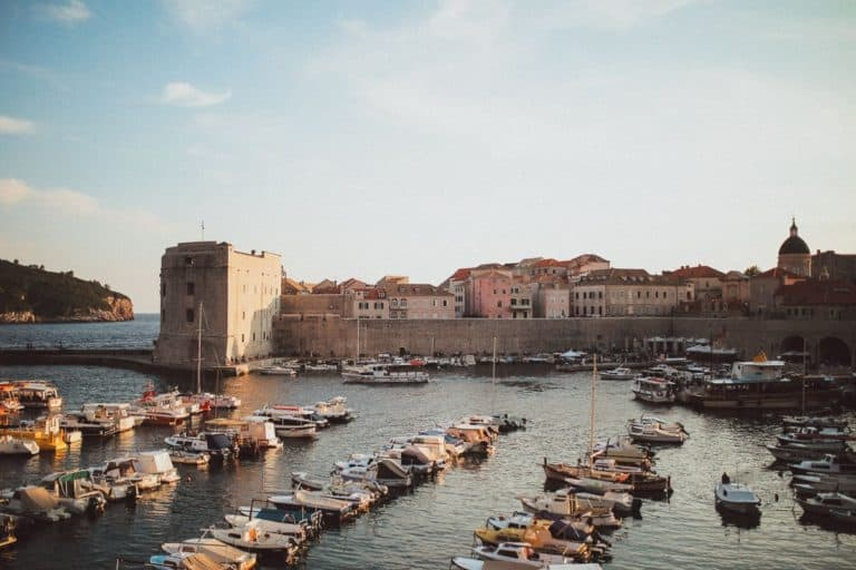 A view on Dubrovnik city walls