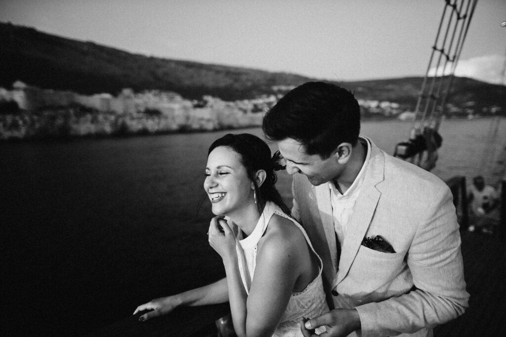 wedding in croatia on karaka boat in dubrovnik
