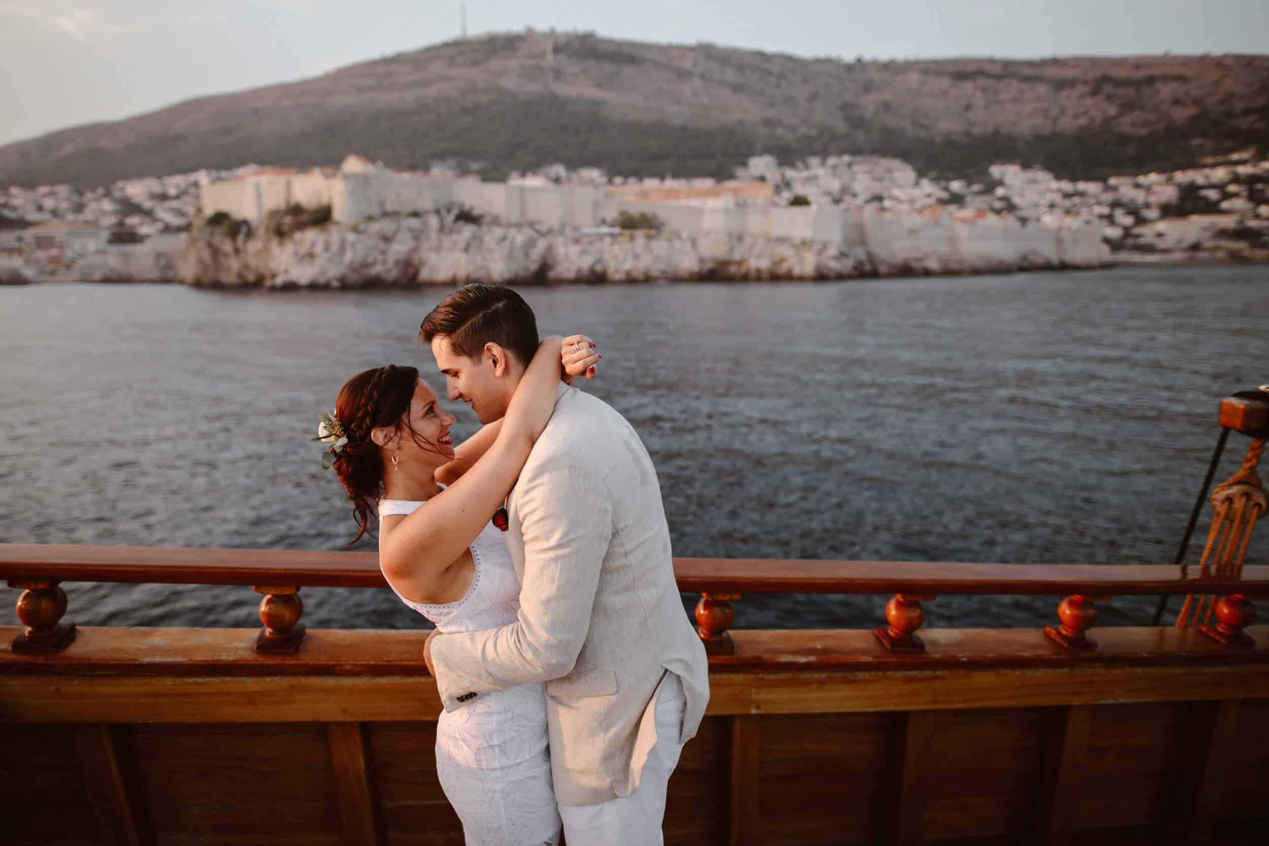 Dubrovnik karaka boat elopement matea stephan 16 | Croatia Elopement Photographer and Videographer