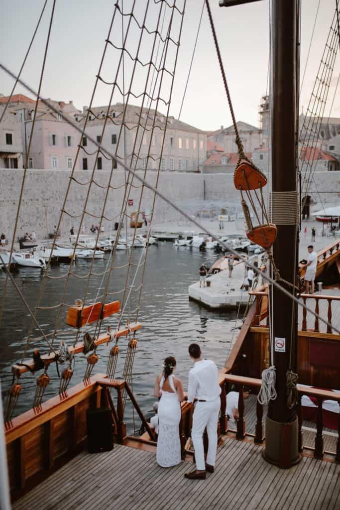 Dubrovnik karaka boat elopement matea stephan 19 | Croatia Elopement Photographer and Videographer
