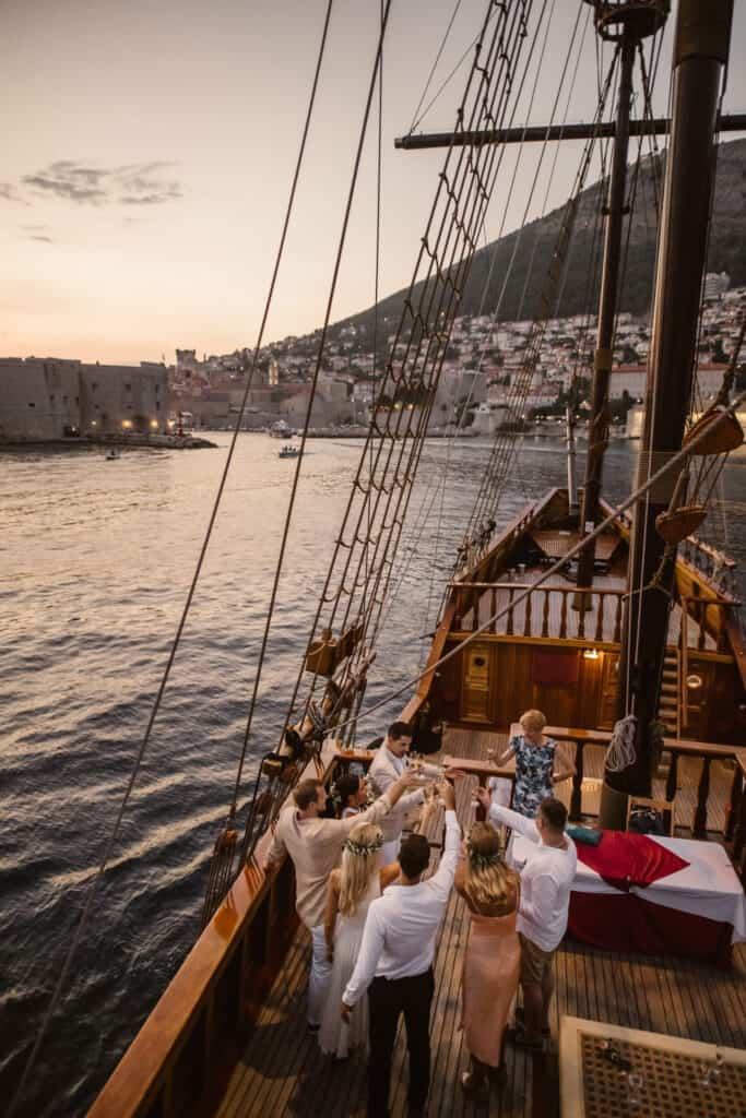 Dubrovnik karaka boat elopement matea stephan 23 | Croatia Elopement Photographer and Videographer