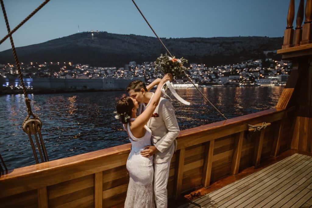 Dubrovnik karaka boat elopement matea stephan 27 | Croatia Elopement Photographer and Videographer