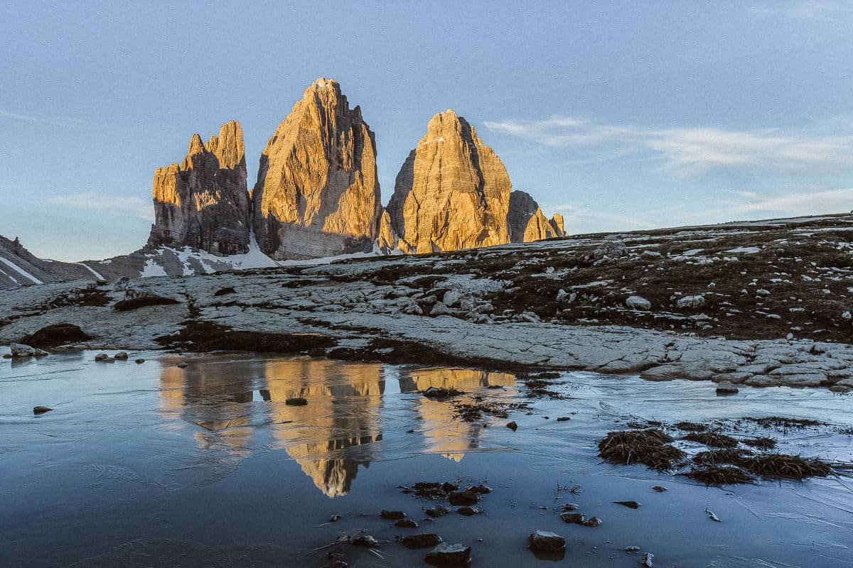 Tre Cime di Lavaredo - best places to elope in Europe: Dolomites